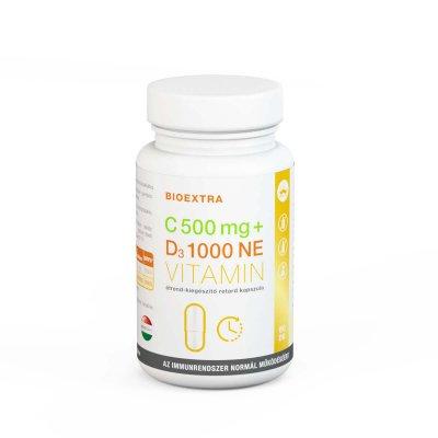 C-vitamin 500mg + D3-vitamin 1000 NE